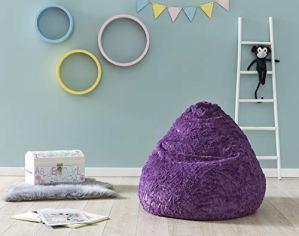 Lumaland Pouf Douillet de Luxe, Design 120L, différentes Couleurs, Violet