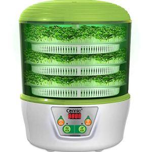 Machine de vin de Riz de Machine de Yaourt de germes de soja, Machine multifonctionnelle Intelligente Automatique de Germination de Grande capacité de soja de Quatre Saisons, Vert de Trois Couches