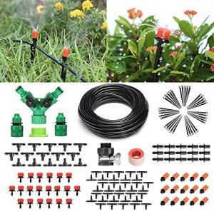 Pathonor Système d'irrigation de Bricolage Kit d'irrigation Kit Arrosage Automatique 40M Jardin Tuyau Micro Système Goutte à Goutte
