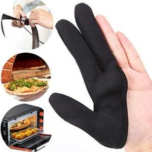 Prevently Gants résistant à la chaleur, isolation Lot de création trois doigts Gant en nylon Chiffon Noir Unisexe Coupe Noir