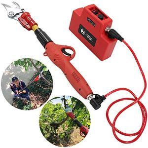 YQY Élagage électrique Jardin Professionnel 4.5cm Ciseaux électriques Arbre de Fruits Fruit élagage 4.4Ah Batterie au Lithium sécateur électrique