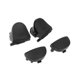 Almencla Remplacement de L2 Boutons pour Sony PS4 Contrôleur Noire