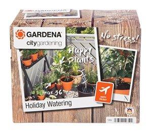 Arrosoir automatique de vacances pour jardinage urbain GARDENA: kit d'arrosage de plantes, arrosage de jusqu'à 36 plantes (1265-20)