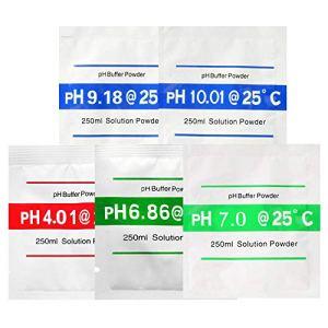 Bihood pH H Mètres pH Test de pH pour pH Valeur pH 4.01 6.86 7.00 9.18 10.01 5 PCS