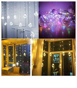 Buimin Guirlande Lumineuse LED String Ball Rideau De Lumière Wish Ball Lampe De Jardin De Noël De Mariage Décor À La Maison Led lumière de fil de cuivre souhaitant la lumière rideau boule (C)