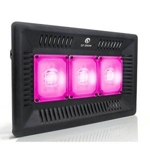 CF Grow Lampe pour Plante 300W tanche IP67, Mettre à Jour Plante LED Horticole Lampes de Croissance Lumière pour Intérieur/Serre/Hydroponique/Grow Box Culture Ultra-Mince[Classe énergétique A+++]