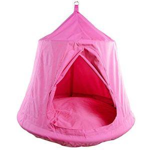 SK-YBB Children Chaise à Suspendre pour intérieur et extérieur avec Mini Tente en Acier et Corde en Coton PP