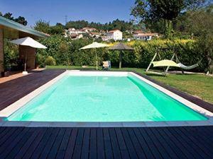 SunKit Piscine Acier rectangulaire 8x4x1.5m Liner Sable