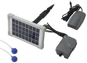 Woodside – Oxygénateur solaire 3 en 1 pour bassin – batterie de secours/2 pierres à air