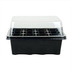 3jeux de plantes pour semis 12pots Nursery Boîte à plateaux avec dôme
