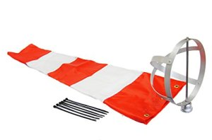 aéroport Manche à air Corporation 20,3 x 91,4 cm Orange et Blanc Manche à air et 20,3 cm Cadre en aluminium Combo USA Made
