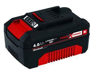 Einhell Batterie du systÚme Power X-Change (Li-Ion, 18 V, 4,0 Ah compatible avec toutes les machines Power X-Change)