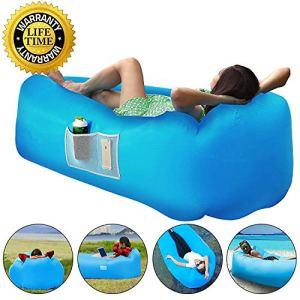 jourlove Canapé Gonflable pneumatique de transat de Plage, Portable pour Les Voyages, Le Camping, la randonnée, la Piscine et la Plage