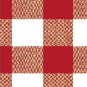 MAURER Nappe en Toile cirée en Rouleau Motif Carreaux Rouges 140 x 20 cm
