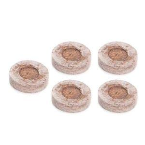 SHUANGCONG 5pcs 30mm Tourbe granulés Bouchons de départ de semences Palette Plantation de Sol de semis Bloc Brun