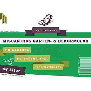 Spring Garden Miscanthus Déco de Jardin 100% Naturel 196 Liter