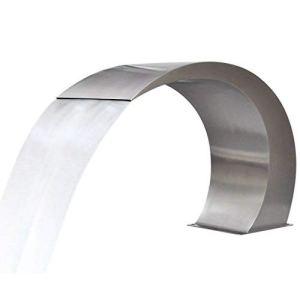 Vislone Fontaine Cascade en Acier Inoxydable de Piscine 45 x 30 x 60 cm