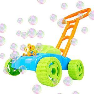 Volwco Tondeuse à Gazon à Bulles d'extérieur Tondeuse à Bulles Machine à souffler Roues détachables Jouet pour Tout-Petits