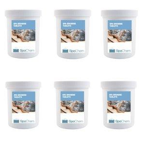6x 1kg Brome Spa comprimés par spachem–pour la désinfection de la piscine spa et jacuzzi d'eau–piscine produits chimiques–Réduit Bulk Buy