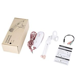 BlackEdragon Microphone à condensateur réglable 3,5 mm pour Enregistrement en Studio avec répartiteur de Casque pour Chat vidéo, Chant, Chant