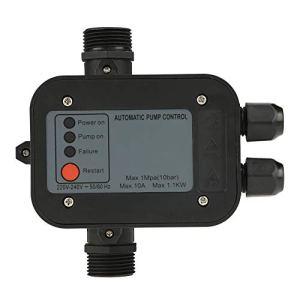 Contrôleur de Pression de Pompe à eau de Contrôle électronique Automatique de Commutateur de 220V 50 / 60HZ Noir pour Pompe à eau Auto-amorçante