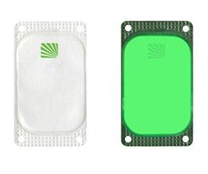 Cyalume, Carton de 250 Balises Lumineuses Adhésives Rectangulaires Visipad Vert, 10 Heures