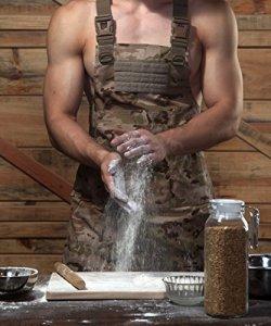 CyberDyer Male femelle tactique Outil de travail Tablier avec poches pour extérieur pique-nique et Quotidiennes de travaux de réparation, Desert Camouflage, Taille unique