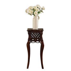 Khkfg Simple américain tout en bois massif support de salon support de salon européen rétro stand de fleur sculpté