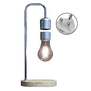 LOKJOM Accueil Lampe De Bureau LED Magnétique Lévitation Cadeaux Décor Tech Jouets Tuyau Coudé Flottant Ampoule Table en Bois Night Light Bureau Chambre,US