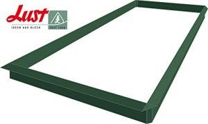 Lust Ideen aus Blech Seit 1920 Lot de 14 clôtures à escargots en tôle enduites de Poudre Vert Mousse 10 x 1,0 m + 4 x connecteur d'angle 90° Enduit de Mousse Vert