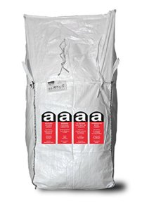 ASUP Asbest Big Bag 91 x 91 x 115 cm Impression aspend 1 face en LDPE, SWL 1500 kg, blanc