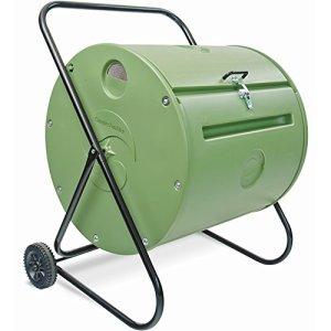 Composteur de Jardin Rotatif Mobile – Mini-Composteur Mantis 140 litres – Plastique Haute densité – Protégé des intempéries et des rongeurs