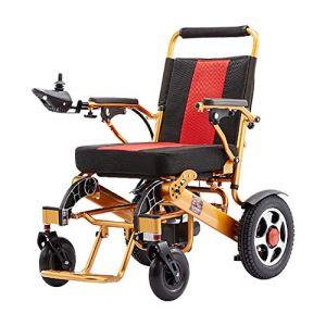 DEAN Marcheur électrique Pliable, Alliage d'aluminium léger, Fauteuil Roulant Pliant Polyvalent, Scooter âgé, adapté à Tout Type de chaussée
