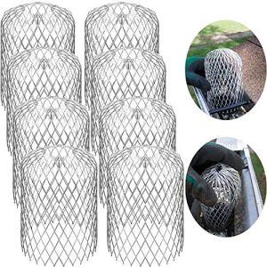 Filtre de Garde de Gouttière Filtre en Mesh de Garde de Descente de 3 Pouces pour Filtre à Feuilles et Pluie Couvertures d'Écran de Gouttière(8 Paquets)
