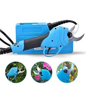 GTTBS-jd 1Cisailles Électriques, Ciseaux Rechargeables Outils de Coupe pour Le Jardinage Domestique Outil Coupe Branches Grossières pour Arbre 25 Mm (Branche Dure) ~ 30 Mm (Branche Souple)