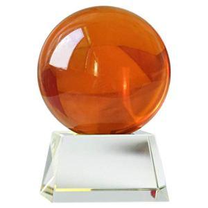Gze Boule De Cristal Orange, Sphère De Divination, Parfaite pour La Méditation Et La Guérison, Cristaux De Feng Shui 200mm