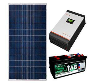 Kit Solaire 24v 1500w/7500w jour Convertisseur Multifonction 3kva Régulateur PWM 50A Batterie Monobloc TAB 245Ah