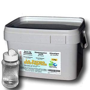 La Ferme Sauvegrain Terre de Diatomée pour Punaises de lit Fourmis Cafards et Araignées – Traitement Naturel – 2kg + poudreur Offert