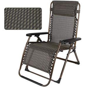 LVZAIXI Chaise Relaxante À Bascule Portable Été Inclinable Chaise Pliante Élargie Épaissie Déjeuner Pause Chaise Siesta Lit Lounge Chair (Couleur : B)
