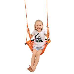 Siège de balançoire pour enfant, chaise de balançoire suspendue pour enfant à corde et à corde pour 2-15, aire de jeu, intérieur, porte extérieure, jardin, ménage avec sangles pivotantes (200KG)