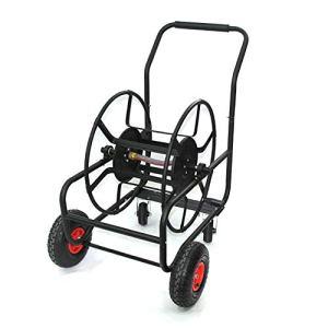 STSERI Enrouleur de Tuyau d'arrosage de Jardin Cart Chariot en métal d'enrouleur de Tuyau d'arrosage de Jardin portatif