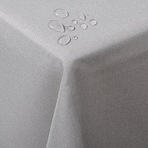 WOLTU TD3040hgr Nappe de Table carré Aspect Lin imperméable résistant aux Taches,130x160cm Gris Clair