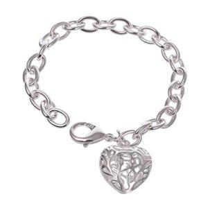Yesiidor évider en forme de cœur Bracelet Mode Pendentif en forme de cœur creux lumineux Bracelet chaîne de corps