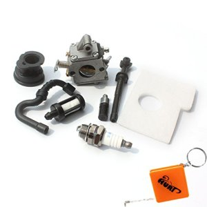Carburateur et filtre à air Huri pour tronçonneuse Stihl 017 018 MS170 MS180 – Avec filtre à essence / huile, bougie d'allumage, collecteur d'admission – Rechange Zama C1Q-S57A / 1130 120 0603