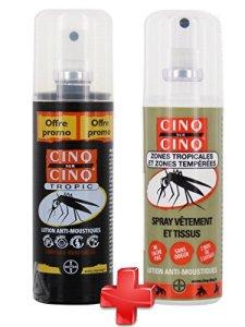 Cinq sur Cinq – Kit Haute protection contre les Moustiques Spray Tropic 100 ml + Spray Vètement 100 ml