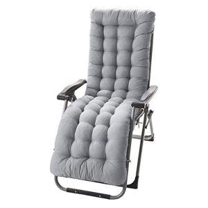 Coussin de chaise longue, en PEP épais, pour l'intérieur/l'extérieur, 155cm environ, généreusement rembourré 61inch * 19inch * 3 inch gris