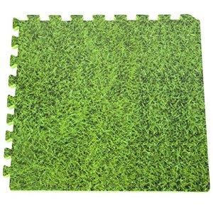 Gre MPF509GR – Protecteur de sol pour piscine, 9 pièces, herbe imitation, épaisseur 8 mm