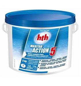 Hth Action 5- Chlore Multifonction stabilisé – 5kg (Galet 200g)
