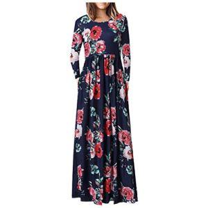 Oksea Robe de Femme, Robe Été Femme de Plage Robes,La Mode des Femmes La Robe sans Manches,Au Dessus du Genou en Vrac Solide Robe