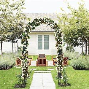 Véritable extérieur Fleur Arche de Jardin Treillis, Durable, tonnelle de Jardin en Acier pour Plantes grimpantes, Mariage, Décoration, 7 '20,3 cm Hauteur X 4' 12,7 cm de Large